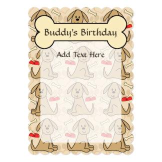 Brown Puppy Dog Graphic Design Personalise 13 Cm X 18 Cm Invitation Card