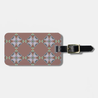 Brown Quilt Block Luggage Tag