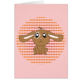 Brown Rabbit Card