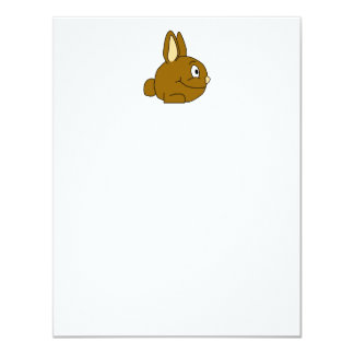 Brown Rabbit Cartoon Personalized Announcements
