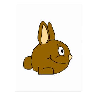 Brown Rabbit Cartoon Postcard