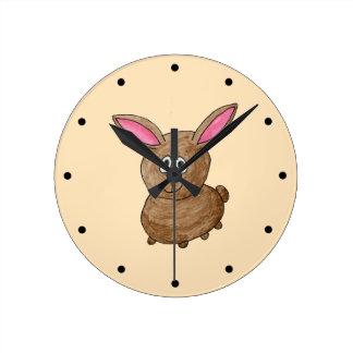Brown Rabbit. Clock