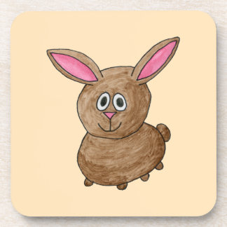 Brown Rabbit. Coaster