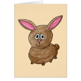 Brown Rabbit. Greeting Card