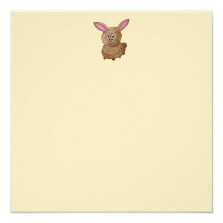 Brown Rabbit. Personalized Invites