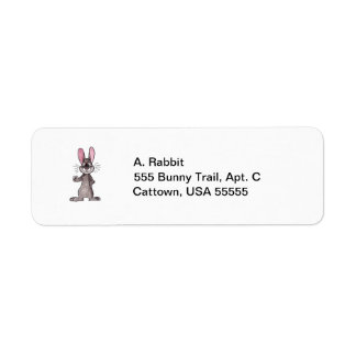 Brown Rabbit Return Address Label