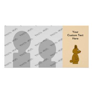 Brown Rabbit Custom Photo Card