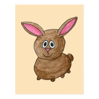 Brown Rabbit. Postcard