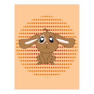 Brown Rabbit Postcard