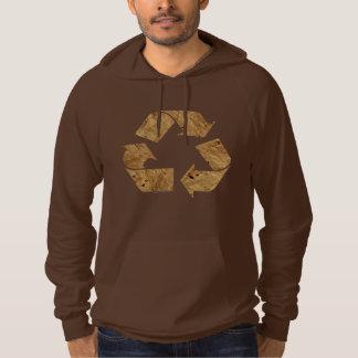 Brown Recycle Sign Hoodie