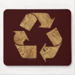 Brown Recycle Sign Mousemat