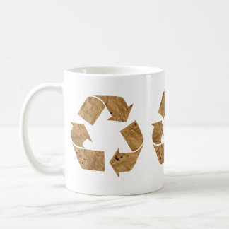 Brown Recycle Sign Mugs