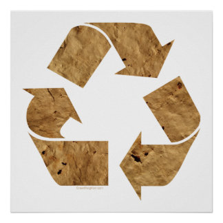 Brown Recycle Sign Poster