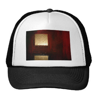 Brown Red Gold Abstract Hat