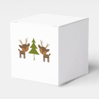 Brown Reindeer Christmas Gift Box