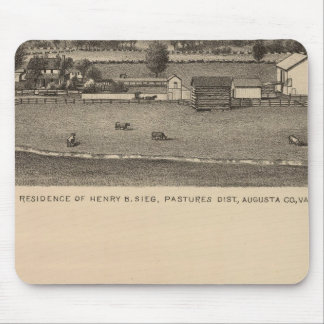 Brown residences, Augusta County Mouse Mat