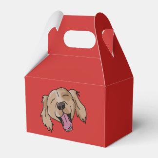 Brown Retriever Smiling Gift Box