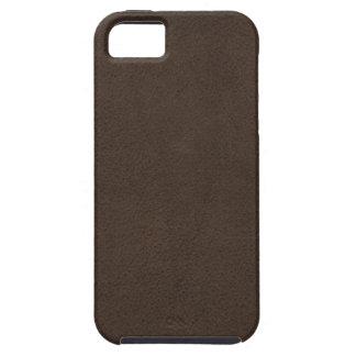 Brown Retro Custom Suede Tough iPhone 5 Case