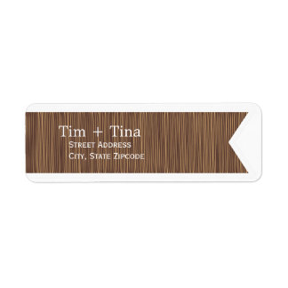 Brown Ribbon Return Address Label