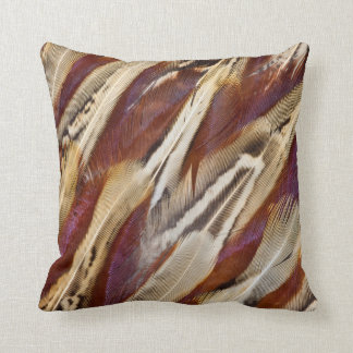 Brown Ring-Necked Pheasant Feathers Cushion