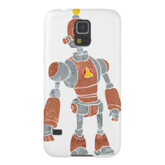 brown robot with lamp head cases for galaxy s5