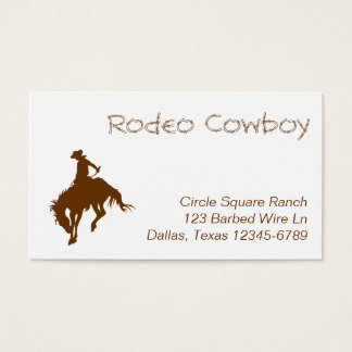 Brown Rodeo Cowboy Business Card