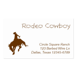 Brown Rodeo Cowboy Pack Of Standard Business Cards