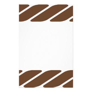 Brown Rope Border Frame Stationery Design