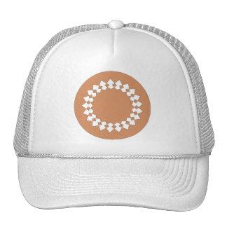 Brown Round Wheel Pattern Graphic Design. Hat