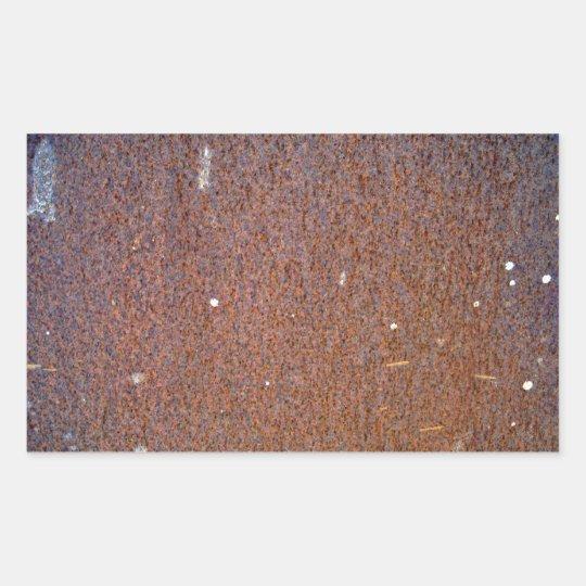 Brown Rust Metal Texture Rectangular Sticker