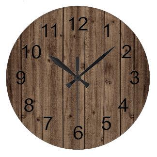 Brown Rustic Beautiful Wood Texture Clocks