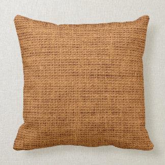 Brown Rustic Burlap Linen Cushion