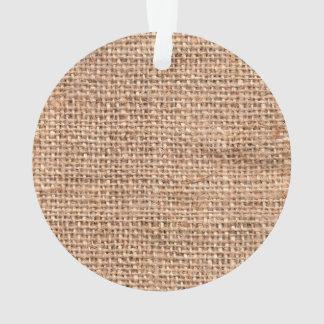 Brown Rustic Burlap Texture Ornament