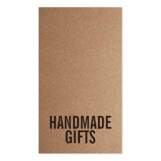 Brown Rustic kraft paper diy handmade cardboard Pack Of Standard Business Cards