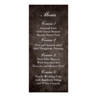 brown rustic mason jar wedding menu