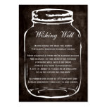 brown rustic mason jar wishing well cards pack of chubby business cards