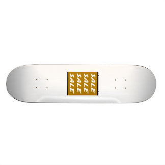 Brown Sale Sign Skate Boards