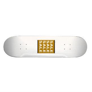 Brown Sale Sign Skate Deck