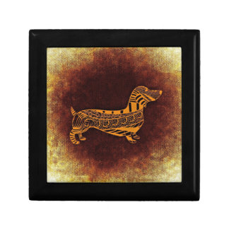 Brown sausage dog graphic gift box