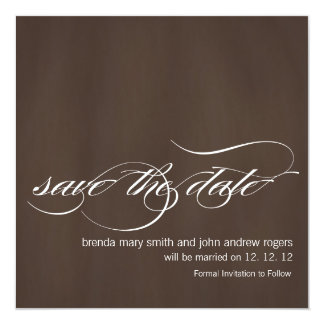 Brown Save the Date Wedding Announcements