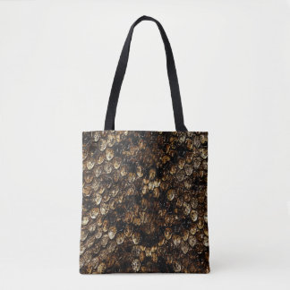 Brown Scaly Snake Skin Pattern, Tote Bag