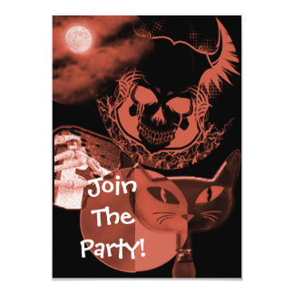 Brown Scary Halloween Party Invitations