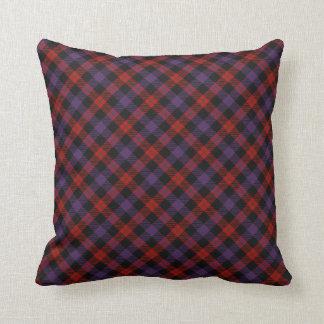 Brown Scottish Clan Tartan Throw Pillow
