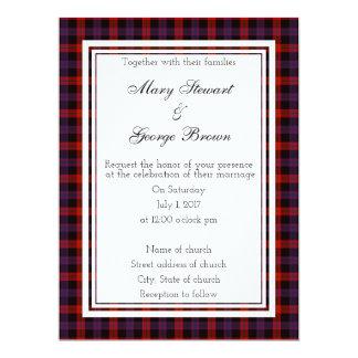 Brown Scottish Wedding Invitation