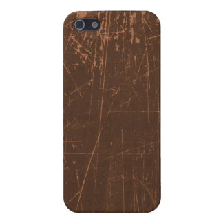 Brown Scratched Aged and Worn Texture iPhone 5/5S Covers