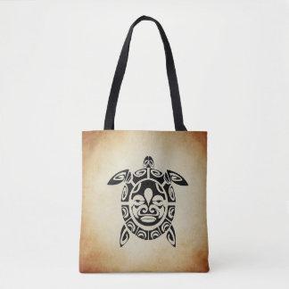 Brown Sea Turtle Tote Bag