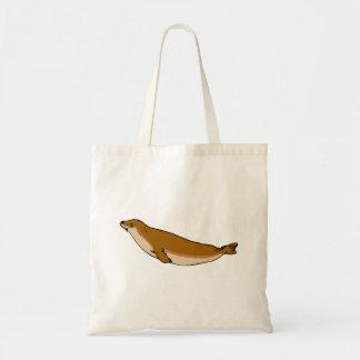 Brown Seal Tote Bag