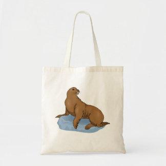 Brown Seal Canvas Bag
