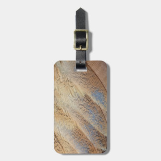 Brown Senegal Bustard Abstract Luggage Tag