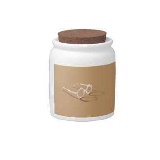 BROWN SHADOW SPECTACLES CANDY JARS